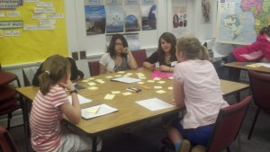 Girls in my Expanding Your Horizons (EYH) workshop in 2012