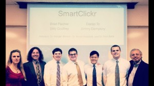 SmartClickr Team at Senior Symposium (2013)