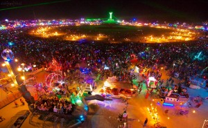 Burning Man at Night. (c)2013 Sidney Erthal Photography
